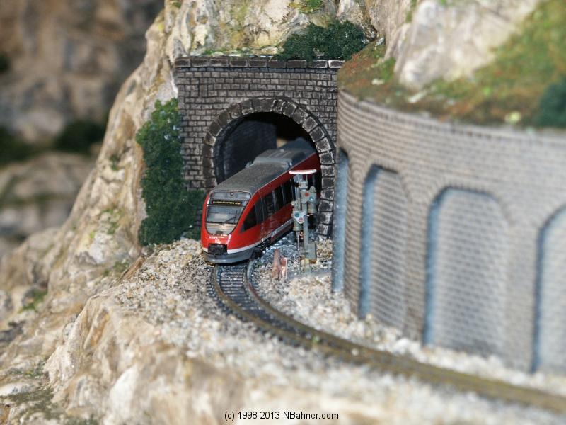 Nebenstrecke, Talet verschwindet im Tunnel