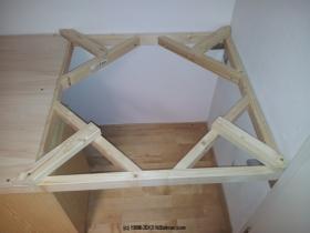 Unterbau / Rahmen - Verankerung für Gleiswendel