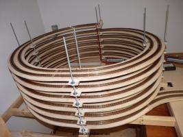 Gleiswendel - sitzt fest auf dem extra angepassten Unterbau / Rahmen